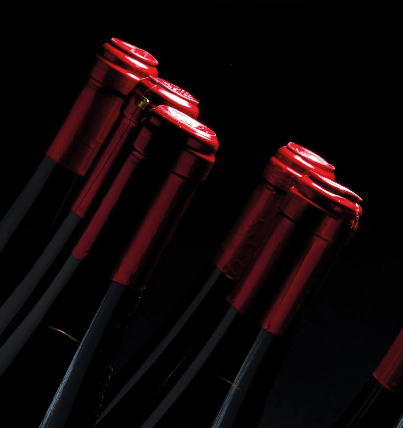 bouteilles vins rouges